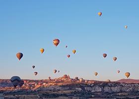 Ballong tur Kappadokkia Tyrkia
